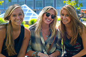 Friends on the University of Utah campus